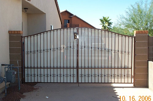 ... Yard Gate Vehicle Parking & Pictures Custom Metal Work - The Iron Scroll Inc. - Yuma AZ Pezcame.Com
